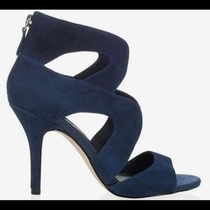 White House Black Market Blue Suede Shoes, New